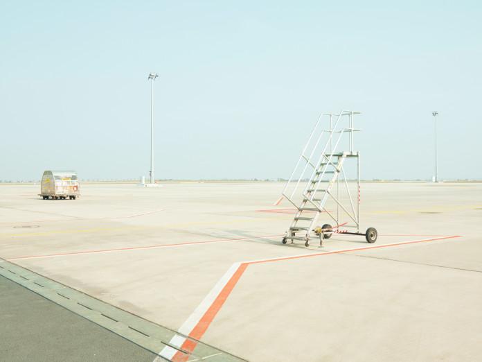Runway, freight airport, Leipzig, Germany