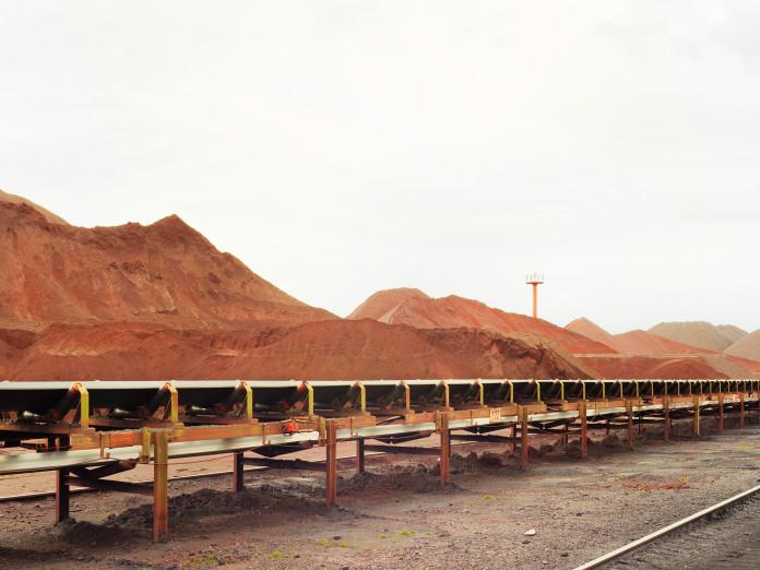 Iron ore waste dump, Hamburg Harbor, Germany