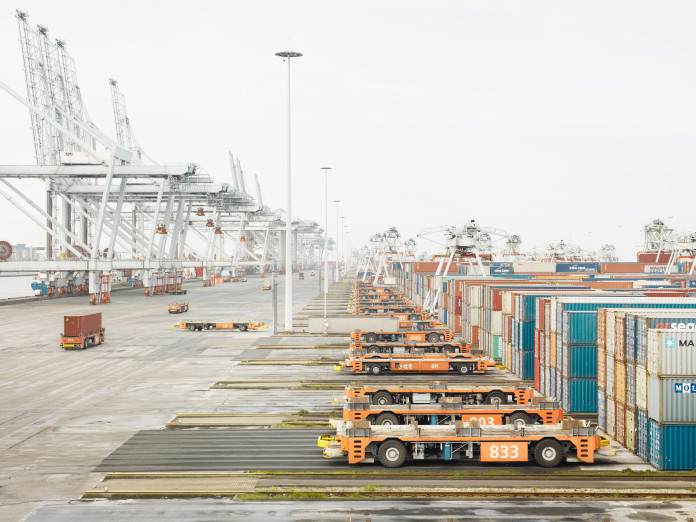 Container terminal, Rotterdam, Netherlands