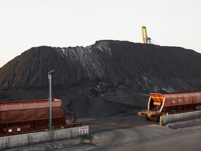 Coal waste dump in Tarragona, Spain