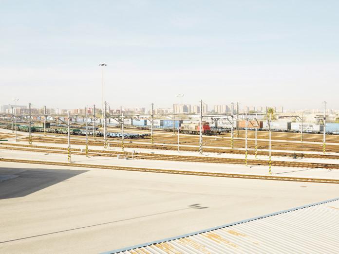 Rail yard, Valencia, Spain
