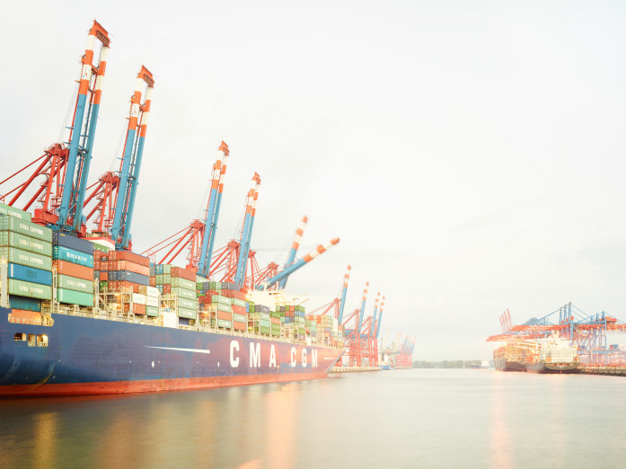 Container habor, Hamburg, Germany