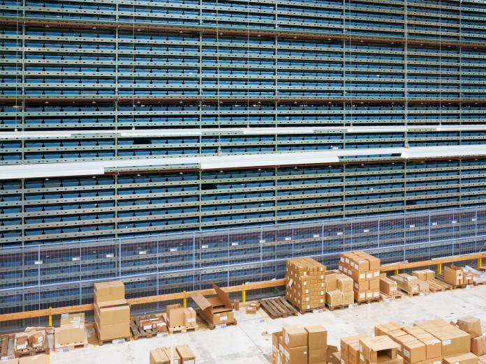 An online merchant's returned goods warehouse, Haldensleben, Germany