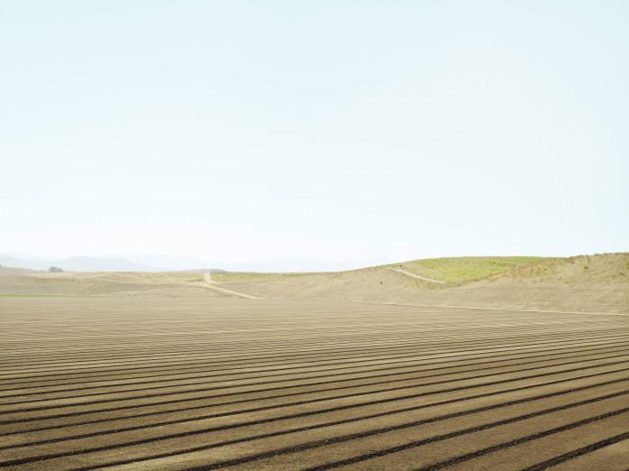 Preparing cropland near San Ardo, California