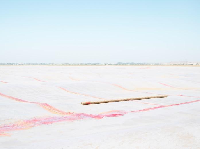 Chemical treatment of cropland in Santa Maria, USA