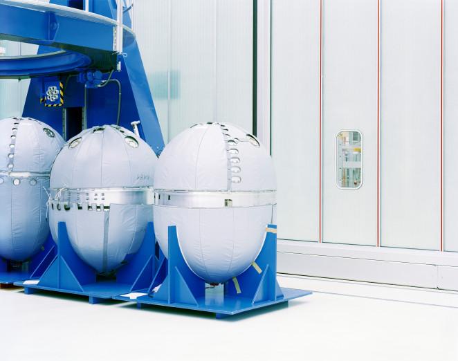 Treibstofftanks einer Ariane-Rakete