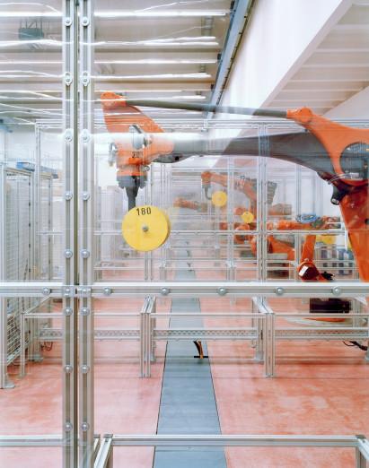 Testbereich für Roboter
