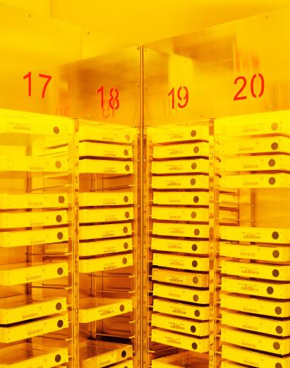 Lagerung von Belichtungsmasken, Halbleiterproduktion