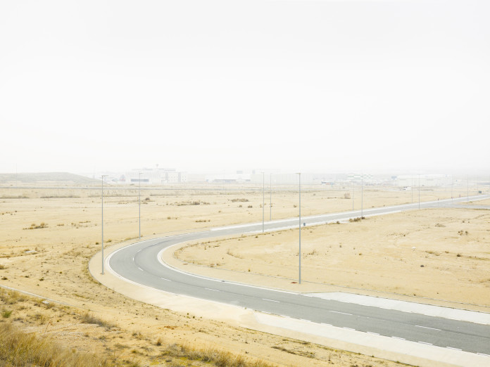 Industriegebiet am Flughafen von Saragossa, Spanien