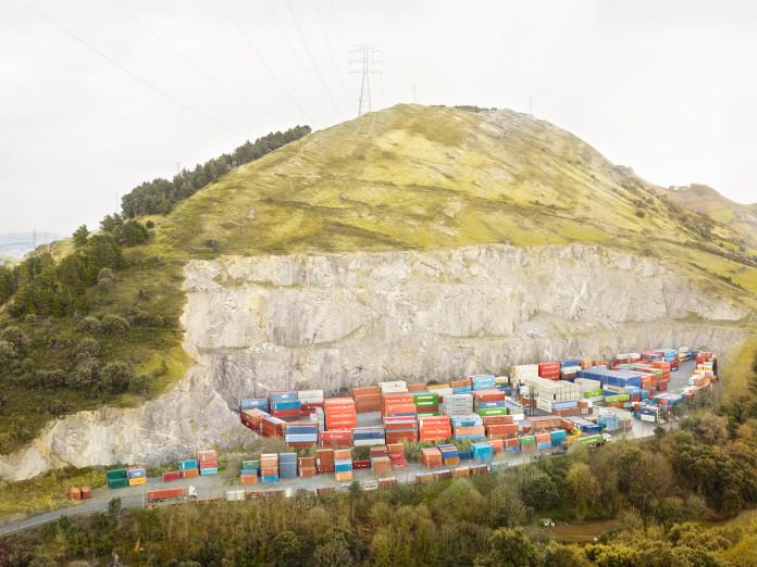 Lagerung von leeren Containern, Bilbao, Spanien