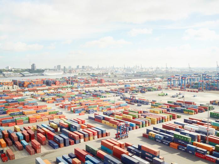 Containerterminal, Hamburg, Deutschland