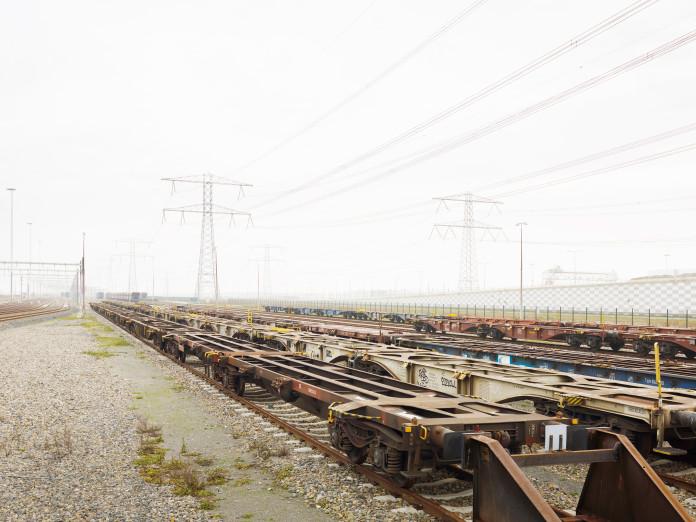 Schienenanbindung im Hafen Rotterdam, Niederlande