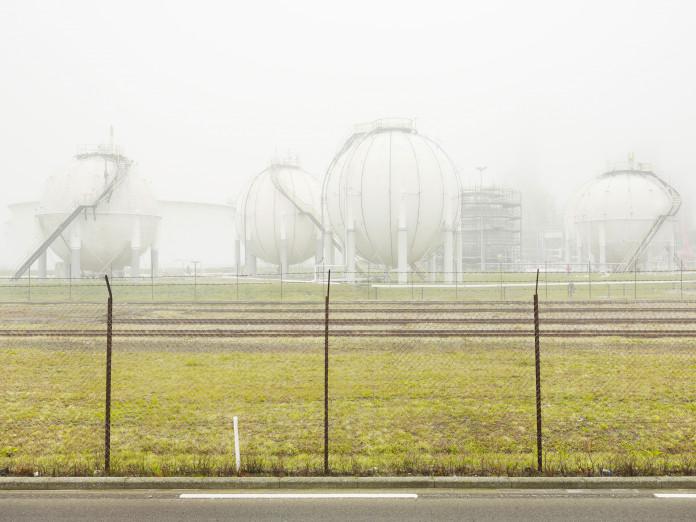 Gasbehälter, Hafen von Rotterdam, Niederlande