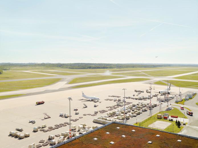 Frachtabfertigung am Flughafen Köln-Bonn, Deutschland