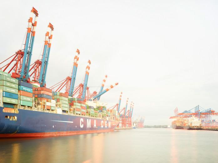 Containerhafen, Hamburg, Deutschland