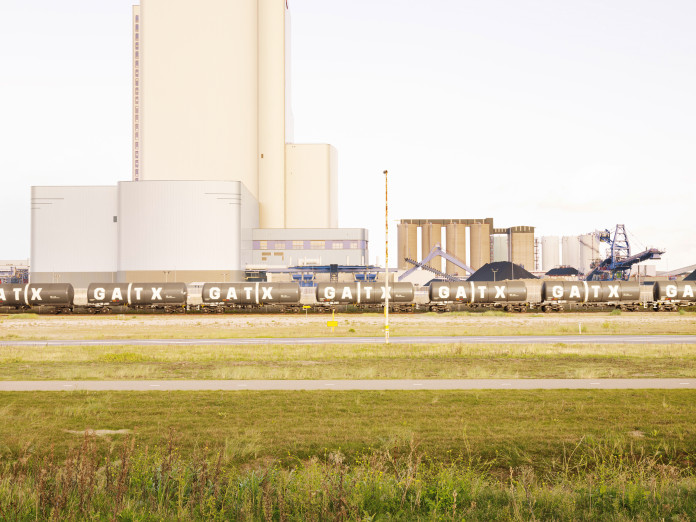 Kohlekraftwerk im Hafen von Rotterdam, Niederlande