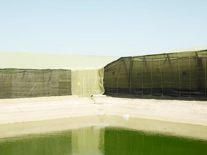 Reservoir für die Gewächshausbewässerung, Andalusien