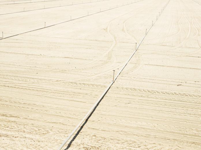 Bodenvorbereitung einer Anbaufläche im Coachella Valley, USA